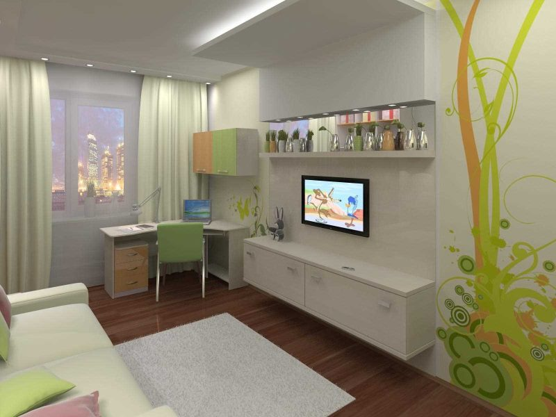 Оформление современной детской комнаты небольшой площади