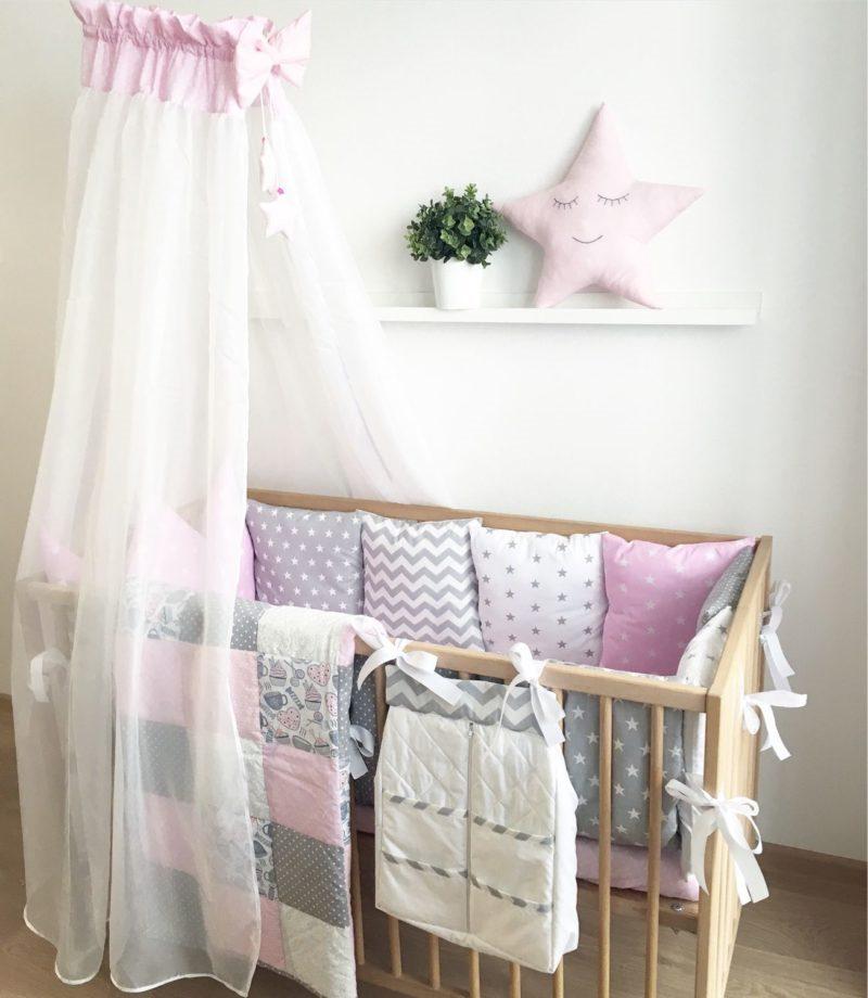 Балдахин из тюли над детской кроваткой