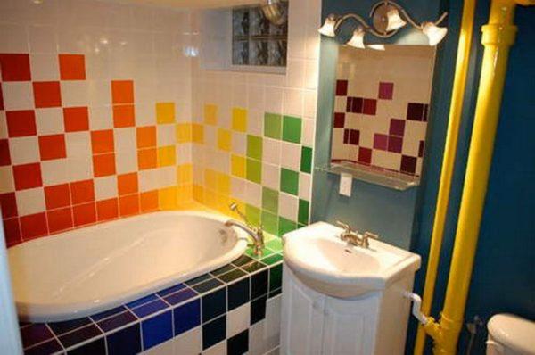 Дизайн для яркой и необычной ванной