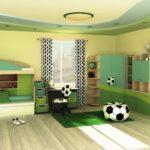 Дизайн комнаты для юного футболиста