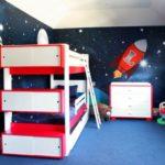 Космос в оформлении детской для маленьких мальчиков