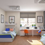 Грифельная стена в детской спальне