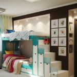 Выдвижные ящики под лестницей детской кровати