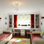 Декорирование комнаты разноцветными подушками