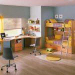 Дизайн современной спальни для двух детей