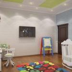 Коврик с цифрами на полу детской комнаты