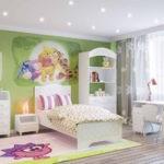 Спальня для девочки в стиле любимых мультфильмов