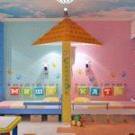 Имена детей на стене детской комнаты