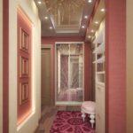 Пример реализации освещения в вытянутом коридоре