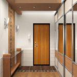 Коричневый цвет в дизайне коридора
