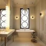 Картина в декорировании ванной комнаты