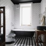 Черный цвет в оформлении сантехнического узла частного дома