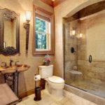 Ванная в стиле барокко с окном в стене