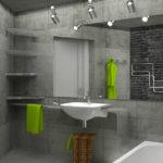 Полированный бетон в дизайне ванной