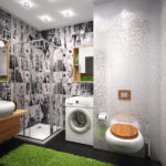 Интерьер ванной в эко-стиле