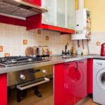 Красная мебель с глянцевыми фасадами