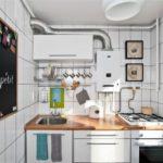 Кухня в индустриальном стиле в белом цвете