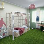 Дизайн-проект комнаты юного футболиста