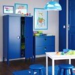 Синяя мебель из экологически чисто пластика