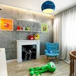 Декоративный камин в детской комнате