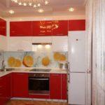 Красный цвет в дизайне кухни