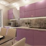 Сиреновые фасады кухонной мебели