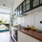Интерьер кухни прямой планировки