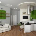 Зеленый цвет в интерьере современной кухни