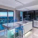 Неоновая подсветка кухонных столешниц