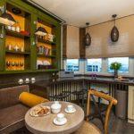 Открыты шкафы в дизайне кухонного помещения