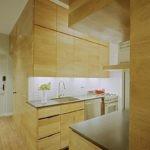 Кухонный гарнитур под дерево в стиле модерн