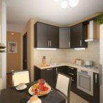 Дизайн кухни с выделенной обеденной зоной
