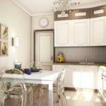 Дизайн современной кухни в ретро стиле