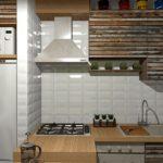 Дверцы кухонных шкафчиков из деревянных планок
