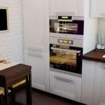 Встроенная бытовая техника на кухне панельного дома