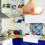 Кухонный светильник с медным плафоном