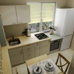 Дизайн кухни с газовой плитой у окна
