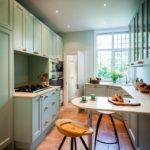 Двухрядная планировка вытянутой кухни