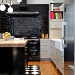 Черный цвет в дизайне кухонного пространства
