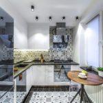Точечные светильники в освещении кухонного пространства