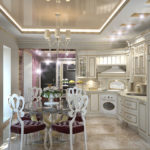 Кухня в стиле модерн с элементами классики