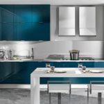 Дизайн кухни средних размеров в стиле модерн