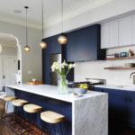 Кухонная мебель с контрастной отделкой