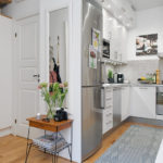 Кухня-студия в городской квартире
