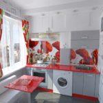 Красный цвет в оформлении кухонного пространства