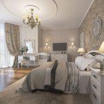 Дизайн спальни в серых оттенках