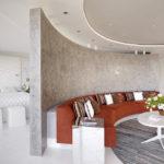 Бетонная стена закругленной формы