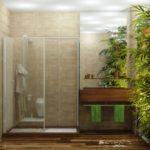 Использование живых растений в дизайне ванной