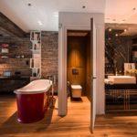 Дизайн модной ванной в стиле лофт