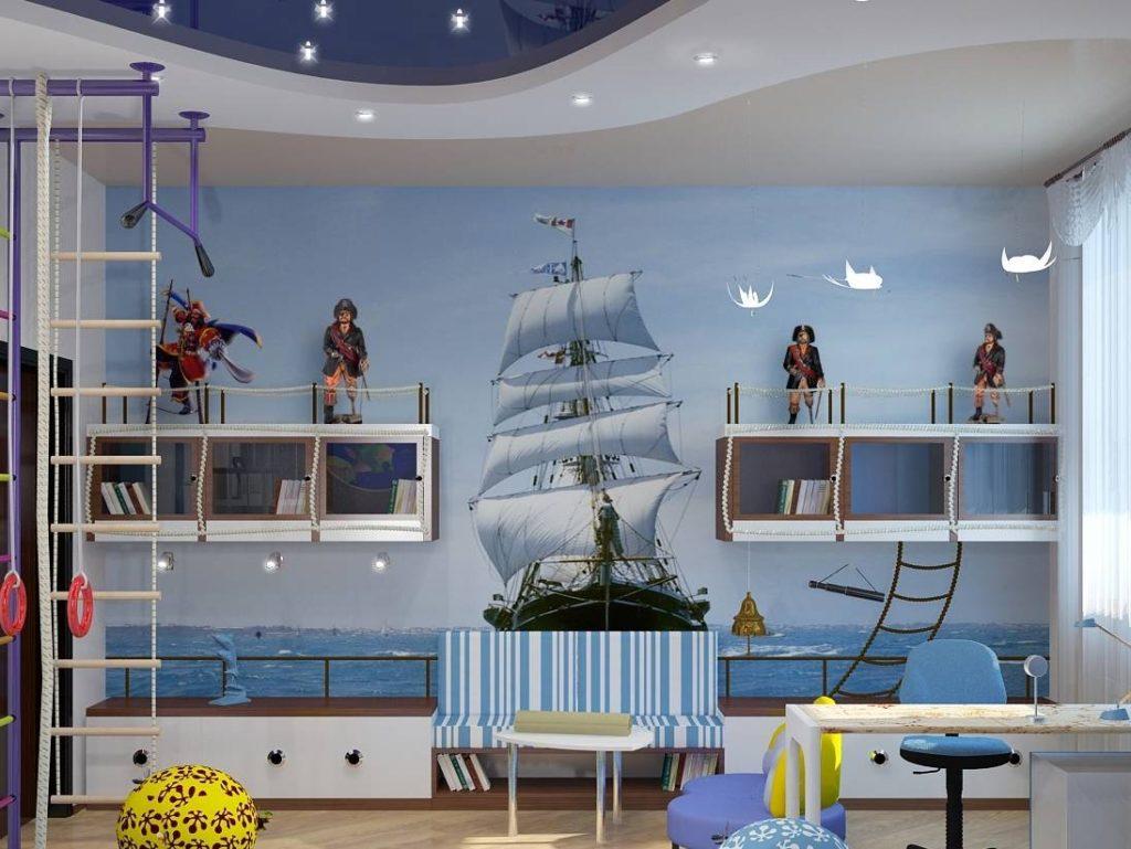 Интерьер детской в морском стиле